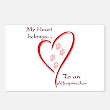 Affenpinscher Heart Belongs Postcards (Package of