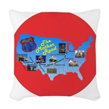 The Mother Road Woven Throw Pillow