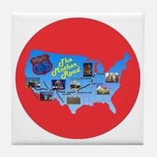 The Mother Road Tile Coaster