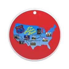 The Mother Road Round Ornament
