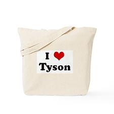 I Love Tyson Tote Bag