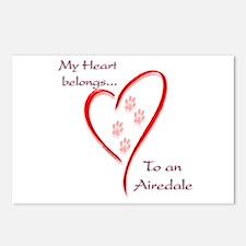 Airedale Heart Belongs Postcards (Package of 8)
