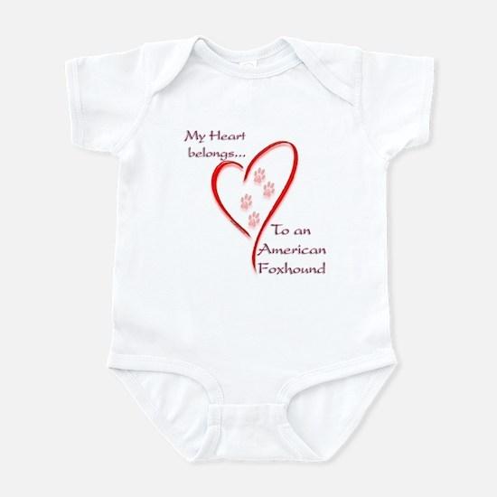 Foxhound Heart Belongs Infant Bodysuit