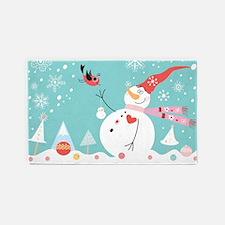 Christmas Snowman 3'x5' Area Rug