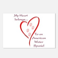 Am. Water Spaniel Heart Belongs Postcards (Package