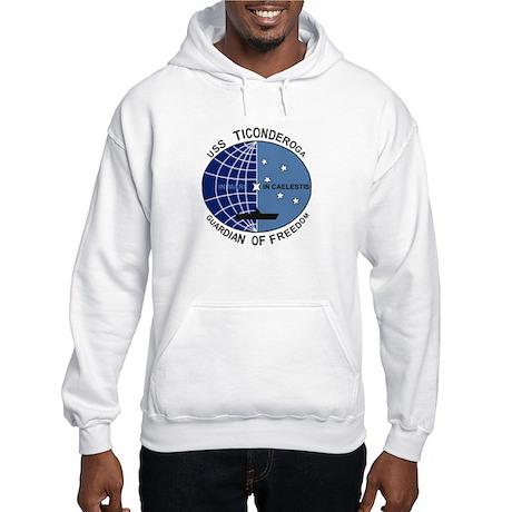 USS TICONDEROGA<BR>Hooded Sweatshirt