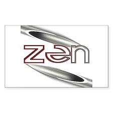 Zen Pierced Rectangle Decal