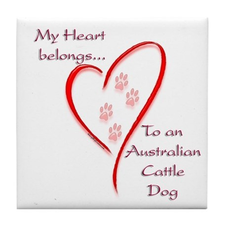 ACD Heart Belongs Tile Coaster