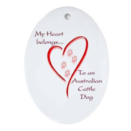 ACD Heart Belongs Oval Ornament