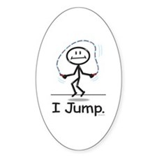 BusyBodies Jump Roping Oval Decal