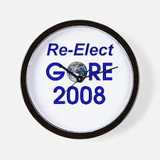 Re-Elect Al Gore Wall Clock