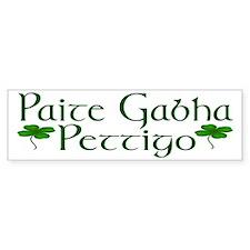 Pettigo (Gaelic/English) Bumper Bumper Sticker