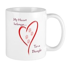 Beagle Heart Belongs Mug