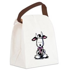 KiniArt Westie Cow Canvas Lunch Bag
