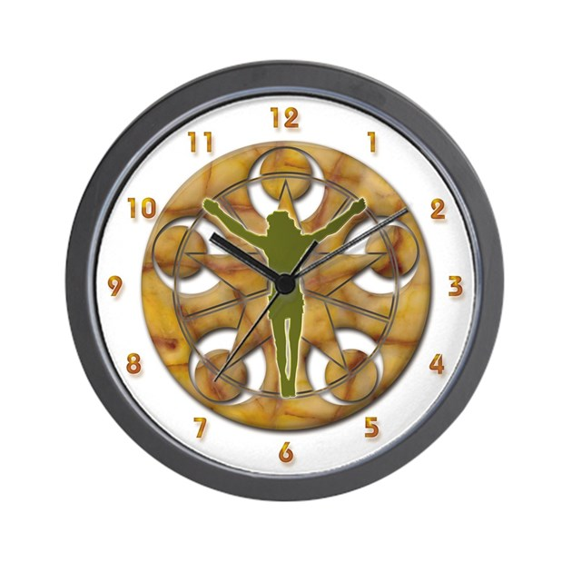 Jesus Christ Cross Crop Circle Wall Clock By Tshirtuniverse_