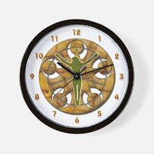 Jesus Christ Cross Crop Circle Wall Clock