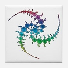 Cute Crop circles Tile Coaster
