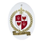GUILLORY Family Crest Oval Ornament
