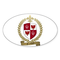 GUILLORY Family Crest Oval Decal