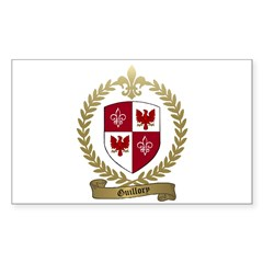 GUILLORY Family Crest Rectangle Decal