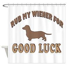 Rub My Wiener Shower Curtain