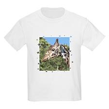 Giraffe Framed in Stars Kids T-Shirt