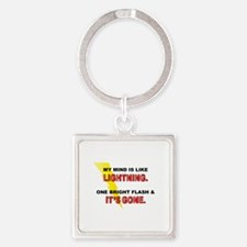 My Mind - Funny Saying Square Keychain