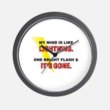 My Mind - Funny Saying Wall Clock