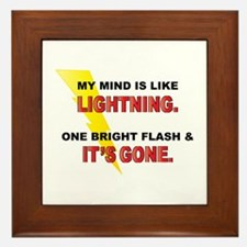 My Mind - Funny Saying Framed Tile