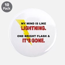 "My Mind - Funny Saying 3.5"" Button (10 pack)"