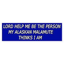 Alaskan Malamute Bumper Bumper Sticker
