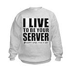 April Fools: Server Kids Sweatshirt