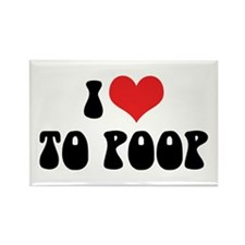 I Love To Poop Rectangle Magnet (10 pack)