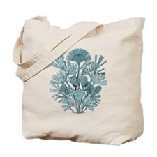 Fan Design - Diatomea by Ernst Haeckel Tote Bag