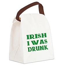 IRISH I Was Drunk Canvas Lunch Bag