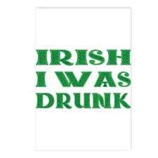 IRISH I Was Drunk Postcards (Package of 8)