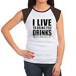 April Fools: Drinks Women's Cap Sleeve T-Shirt