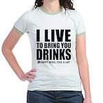 April Fools: Drinks Jr. Ringer T-Shirt