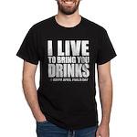 April Fools: Drinks Dark T-Shirt