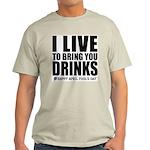 April Fools: Drinks Ash Grey T-Shirt