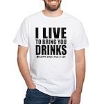 April Fools: Drinks White T-Shirt