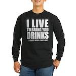 April Fools: Drinks Long Sleeve Dark T-Shirt