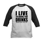 April Fools: Drinks Kids Baseball Jersey