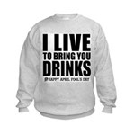 April Fools: Drinks Kids Sweatshirt