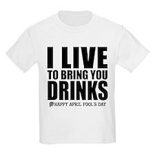 April Fools: Drinks Kids T-Shirt