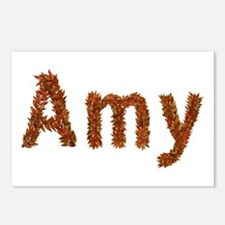 Amy Fall Leaves Postcards 8 Pack