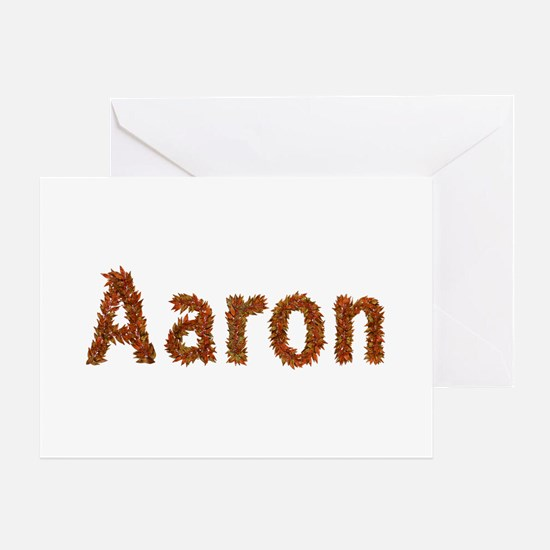 Aaron Fall Leaves Greeting Card