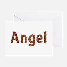 Angel Fall Leaves Greeting Card