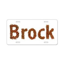Brock Fall Leaves Aluminum License Plate
