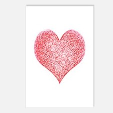 Red Hot Heart Postcards (Package of 8)